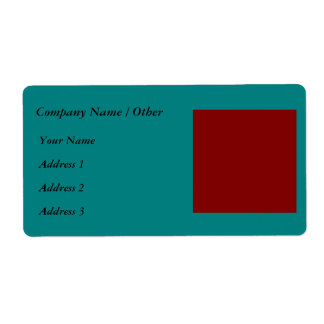 Complementary Two Color Combination / Mix Label