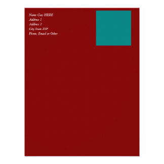 Complementary Two Color Combination / Mix Letterhead