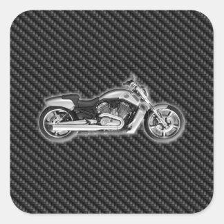Complemento de la motocicleta 3D de Harley del Pegatina Cuadrada