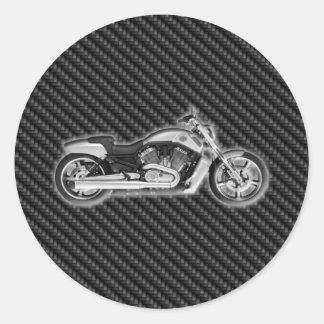 Complemento de la motocicleta 3D de Harley del Pegatina Redonda