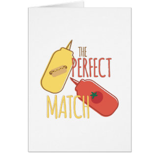 Complemento perfecto tarjeta de felicitación