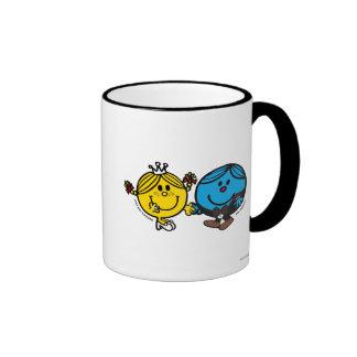 Complemento perfecto taza de dos colores