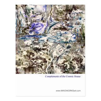 Complementos de la casa cósmica postales