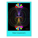 Complementos más altos tarjeta de felicitación