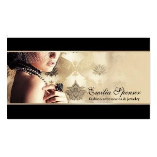 Complementos y tarjeta de visita de la joyería