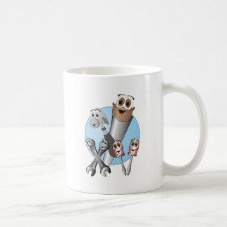 Complete Cartoon Tool Set Blue Coffee Mugs
