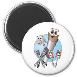 Complete Cartoon Tool Set Blue Refrigerator Magnets