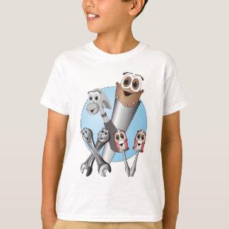 Complete Cartoon Tool Set Blue T-Shirt