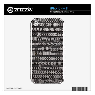 Complete Font Letterpress Type Skins For iPhone 4S
