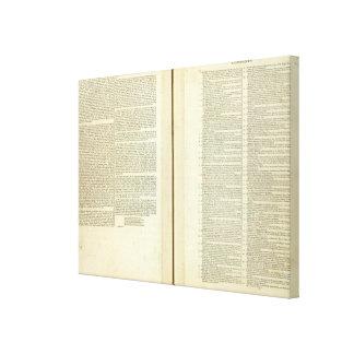 Complete Genealogical, Historical, Chronological Canvas Print