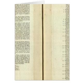 Complete Genealogical, Historical, Chronological Card