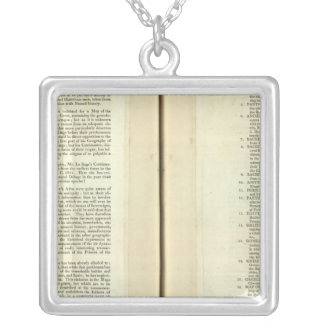 Complete Genealogical, Historical, Chronological Silver Plated Necklace