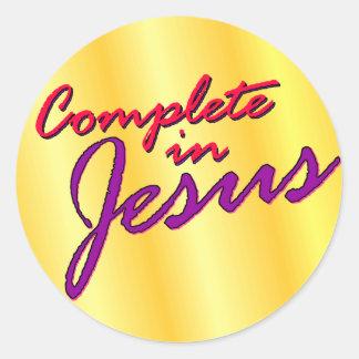 Complete in Jesus Classic Round Sticker
