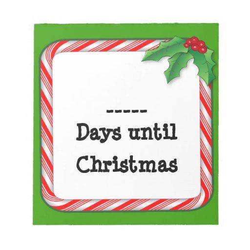 Complete los días 'hasta el navidad libreta, caram blocs de notas