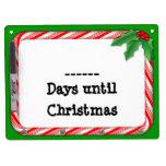 Complete los días hasta que el navidad enumere, ba pizarra