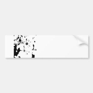 Complete los espacios en blanco pegatina de parachoque