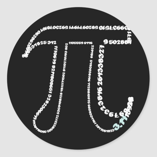 Complete Pi Day Round Stickers