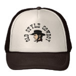 Complete with black hat: Vintage old style Cowboy Mesh Hats
