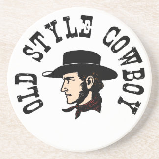Complete with black hat: Vintage old style Cowboy Beverage Coasters