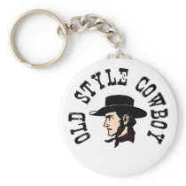 Complete with black hat: Vintage old style Cowboy Keychain