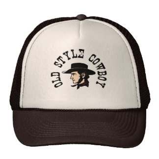 Complete with black hat: Vintage old style Cowboy Trucker Hat