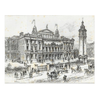 Completed buildings of the People's Palace Postcard