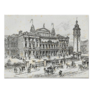 Completed buildings of the People's Palace Poster