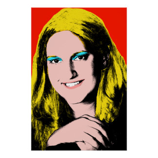 Completed Pop Art Teen Girl Poster