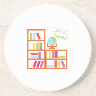 Completely Booked! Beverage Coaster