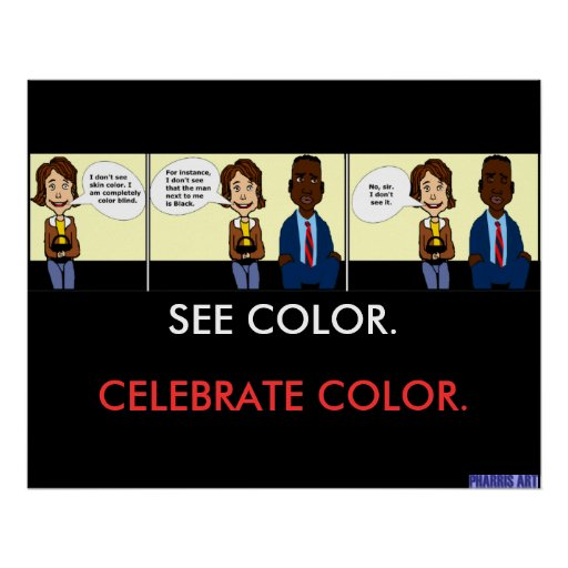 Completely Color Blind Poster
