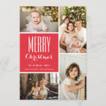 "Completely Custom Holiday Photo Collage<br><div class=""desc"">This 4-Photo Holiday card features a photo collage and pattern polka-dot back design. All text is completely customizable.</div>"
