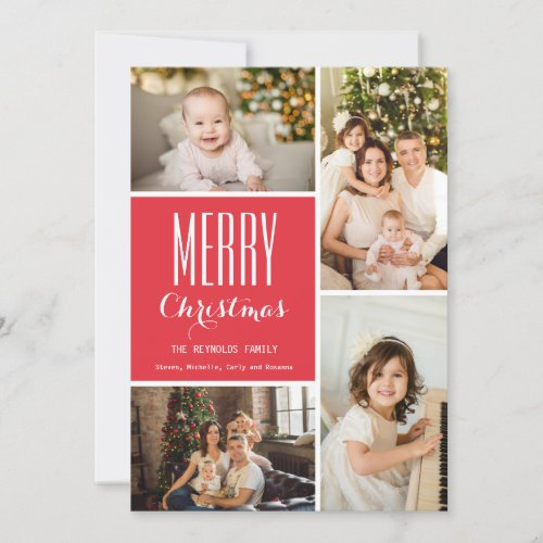 Completely Custom Holiday Photo Collage