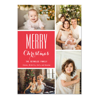 Completely Custom Holiday Photo Collage Card