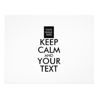 Completely Personalized KEEP CALM and YOUR TEXT Flyer