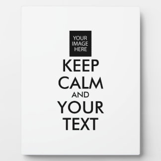 Completely Personalized KEEP CALM and YOUR TEXT Plaque