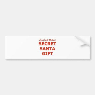 Completely Rubbish Secret Santa Gift Bumper Sticker