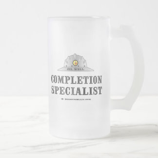 Completion Specialist,Beer Glass,Oil Well 16 Oz Frosted Glass Beer Mug