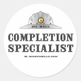 Completion Specialist,Oil Field Sticker,Oil Classic Round Sticker