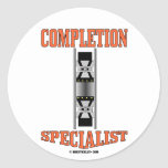 Completion Specialist,Oil,Gas,Rigs,Oil Wells Round Sticker
