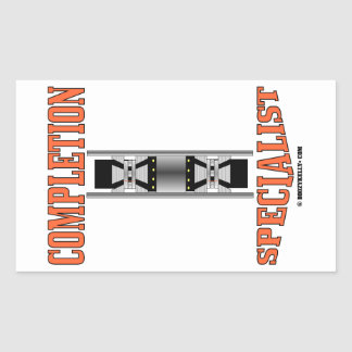 Completion Specialist,Oil Well,Production Packer Rectangle Stickers