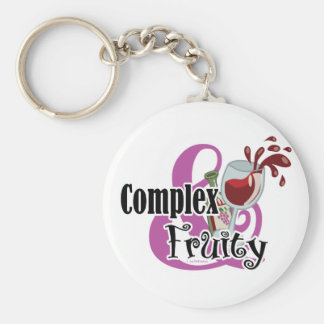 Complex and Fruity Basic Round Button Keychain