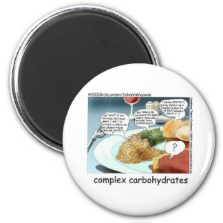 Complex Carbohydrates Funny Mugs Cards Tees Etc Fridge Magnet
