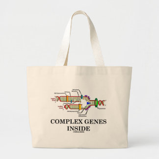 Complex Genes Inside (DNA Replication) Large Tote Bag