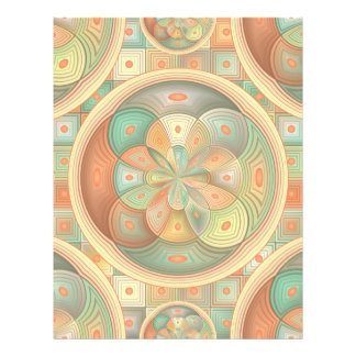 Complex geometric pattern flyer
