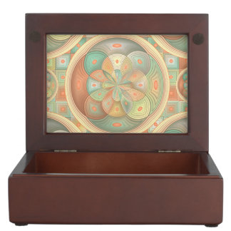Complex geometric pattern memory box