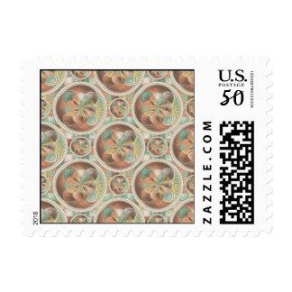 Complex geometric pattern postage