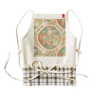 Complex geometric pattern zazzle HEART apron