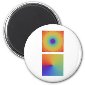 complex logarithm, tall 2 inch round magnet