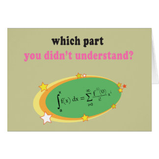 Complex Math Equation Card