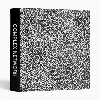 Complex Network (1in) - Black and White Binder